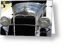 Ford A 1931 Headlights Greeting Card