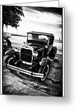 Ford Model T Film Noir Greeting Card