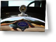 Ford Model T Hood Ornament Greeting Card