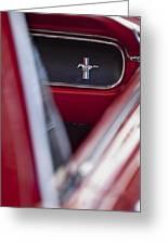 Ford Mustang Dash Emblem Greeting Card