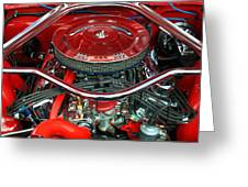 Ford Mustang Engine Bay Greeting Card