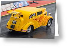 Ford Popular Drag Racer Greeting Card