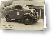 Ford Thames Van Aged Greeting Card