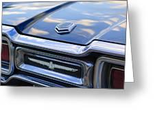 Ford Thunderbird Tail Lights Greeting Card