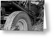 Ford Tractor Details In Black And White Greeting Card