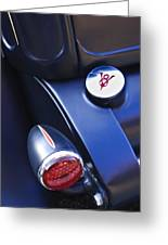 Ford V8 Taillight And Gas Cap Greeting Card