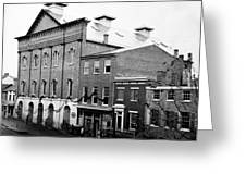 Fords Theater - After Lincolns Assasination - 1865 Greeting Card