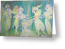 Forest Ballet Greeting Card