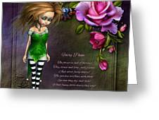 Forest Fairy Jn The Rose Garden Greeting Card