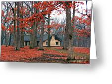 Forest Field House 2 Greeting Card