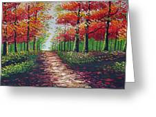 Forest Path Greeting Card by Kostas Dendrinos