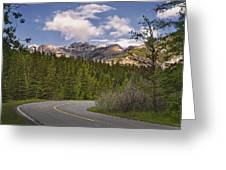 Forest Road In Kananaskis Country Greeting Card by Tatiana Boyle