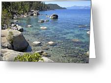 Forested Shores Of Lake Tahoe Greeting Card