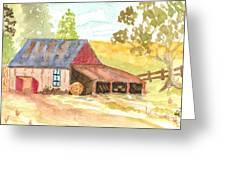Forgotten Barn Postcard Greeting Card