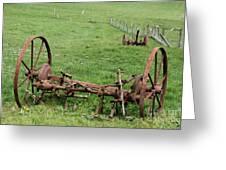 Forgotten Farm Equipment Greeting Card