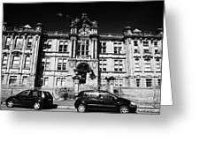 Former Kilmarnock Technical School And Academy Building Now Academy Apartments Scotland Uk Greeting Card by Joe Fox