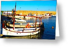 Fornells Harbour Greeting Card