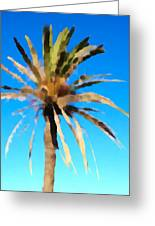 Fornells Palm Tree  Greeting Card