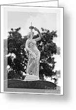 Forsyth Fountain - Black And White 2 Greeting Card