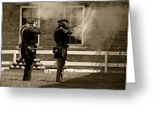 Fort Delaware Soldiers Greeting Card