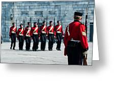 Fort Henry Guards Drill Greeting Card