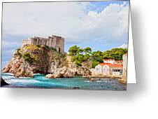 Fort Lovrijenac In Dubrovnik Greeting Card