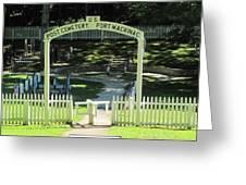 Fort Mackinac Post Cemetery Greeting Card