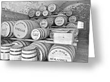Fort Macon Food Supplies Bw 9070 3759 Greeting Card by Michael Peychich