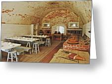 Fort Macon Mess Hall_9078_3765 Greeting Card