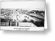 Fort Mchenry, 1862 Greeting Card
