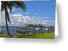 Fort Myers Dock Greeting Card