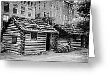 fort nashborough stockade recreation Nashville Tennessee USA Greeting Card