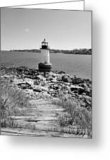 Fort Pickering Light Greeting Card