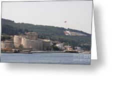 Fortress Canakkale And War Memoriel - Dardanelles Greeting Card