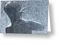 Fountain Of Faith Birdman Greeting Card
