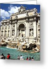 Fountain Of Trevi Greeting Card