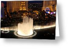Fountains At Night Greeting Card
