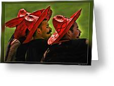 Four Amigos Greeting Card