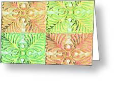 Four Times Four V Greeting Card