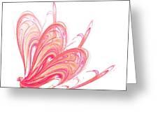 Fractal - Red Flow Greeting Card