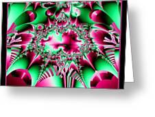 Fractal 12 Candycane Jester Greeting Card