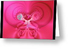 Fractal 30 Love Is In The Air Greeting Card