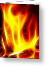 Fractal Fire Greeting Card by Steve Ohlsen