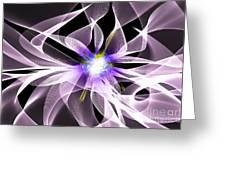 Fractal Flower . Dahlia Greeting Card