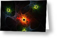 Fractal Network Greeting Card