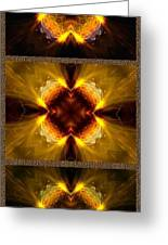 Fractal Triptych Greeting Card