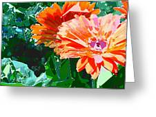Fractured Gerber Daisies Greeting Card