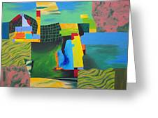 Fragments Number 8 Greeting Card