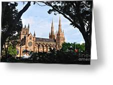 Framed Cathedral Greeting Card