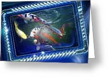 Framed Coy  Greeting Card